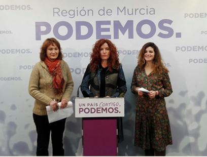 Rueda de Prensa con María Ángeles García, María Marín y Clara Martínez Baeza.