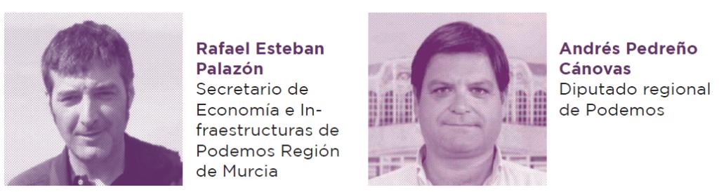 Andrés Pedreño, Rafael Esteban Palazón.