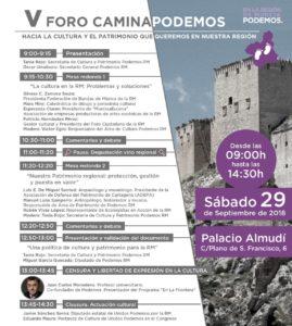 Foro Camina Podemos cultura y patrimonio