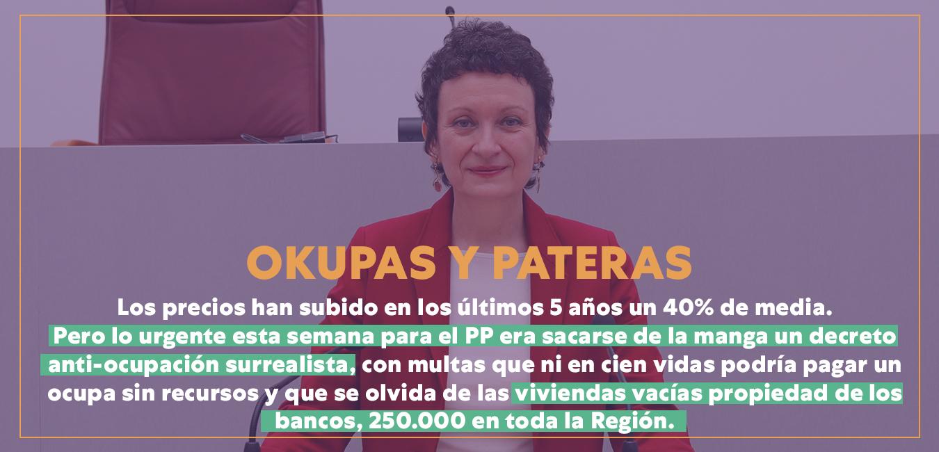 PATERAS Y OKUPAS - REGIÓN DE MURCIA